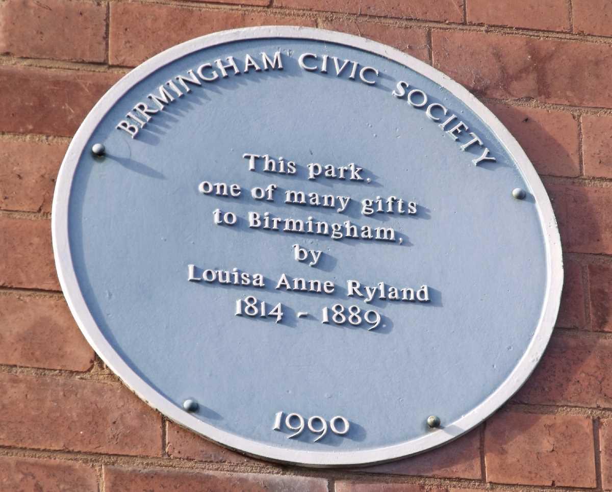 Louisa Ryland blue plaque
