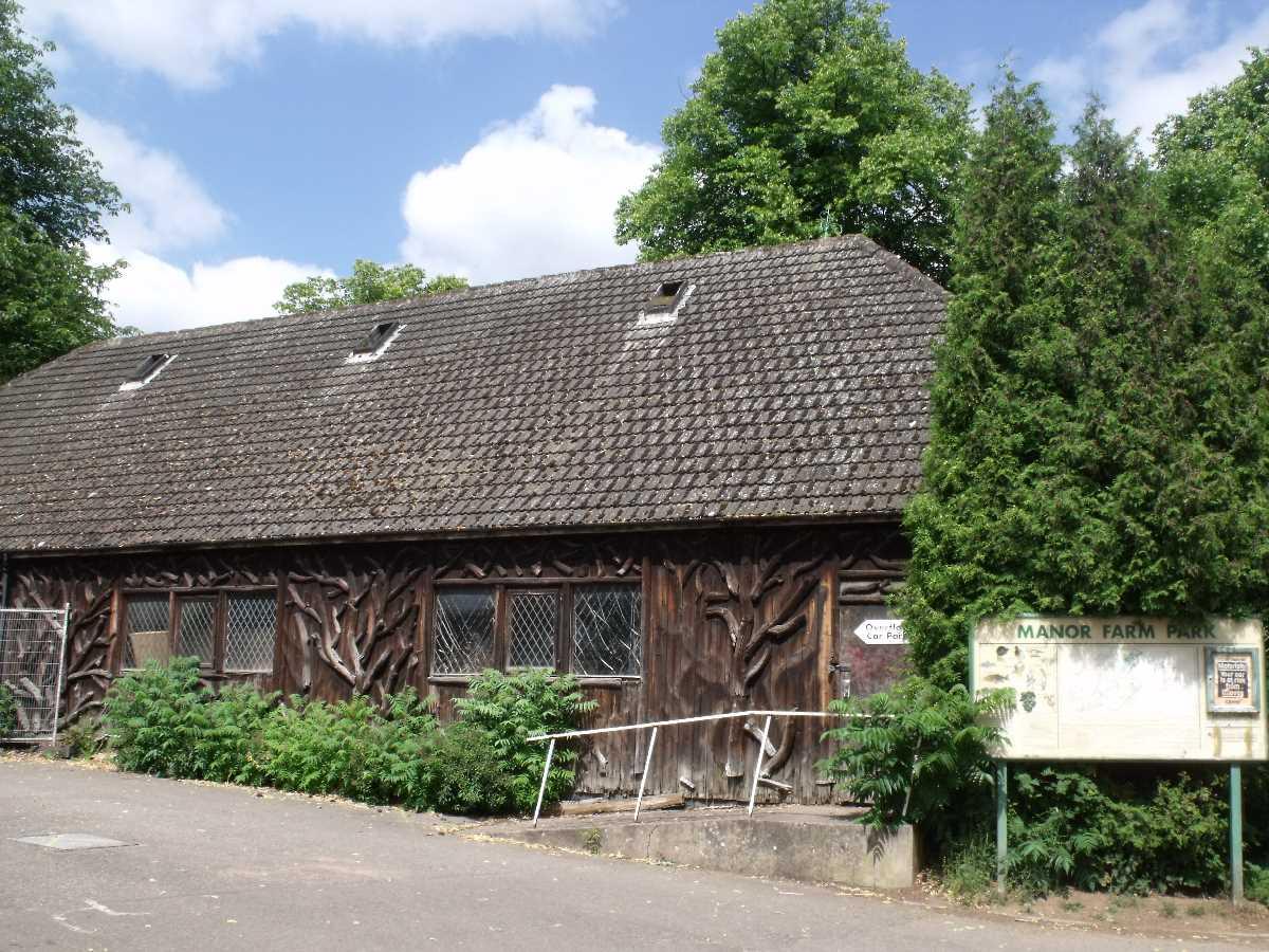 Wooden Barn at Manor Farm Park