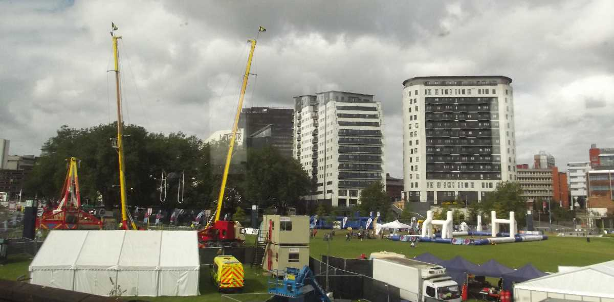 Rugby World Cup fanzone Eastside Green