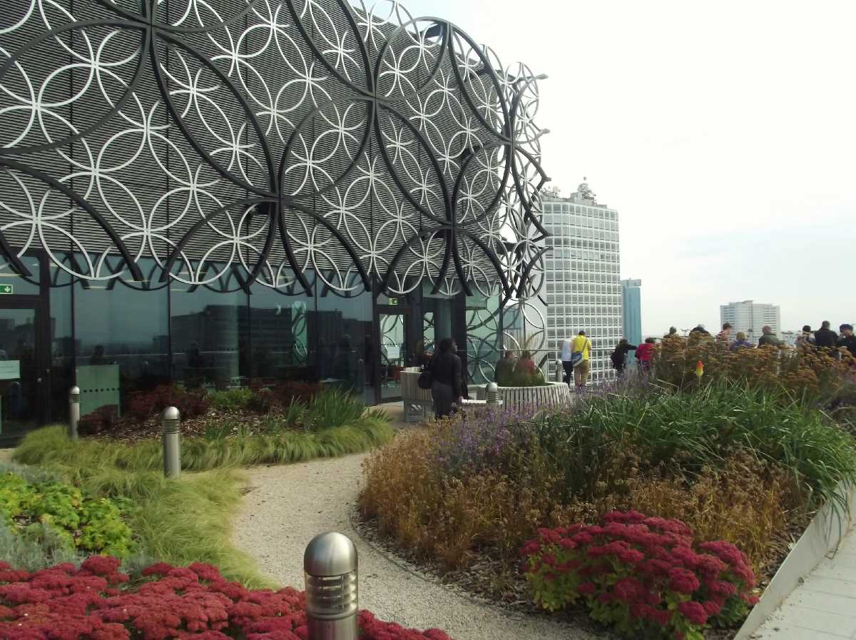 The Discovery Terrace and the Secret Garden at the Library of Birmingham during September 2013